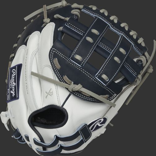 RLACM33FPN 33-inch Liberty Advanced catcher's mitt with a white back and adjustable pull strap