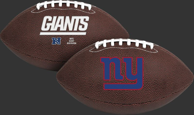 NFL New York Giants Air-It-Out youth football with team name and logo SKU #08041078121