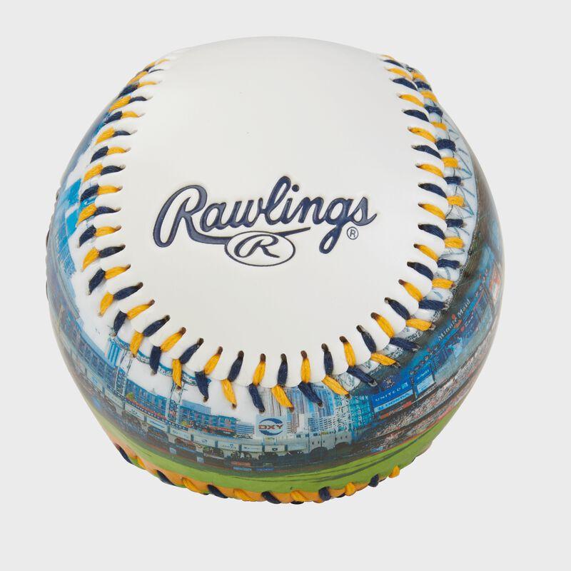 Rawlings logo on a Houston Astros team stadium ball