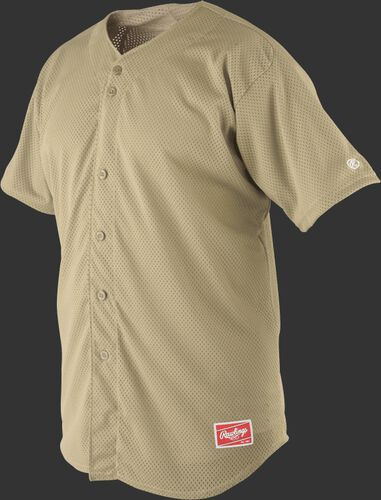 Front of Rawlings Vegas Gold Youth Short Sleeve Jersey  - SKU #YBJ167