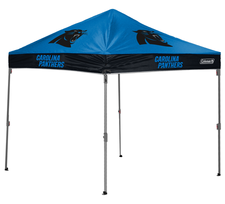 NFL Carolina Panthers 10x10 shelter with team logos and colors