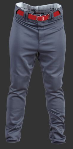 Front of Rawlings Gray Adult Premium Straight Baseball Pant - SKU #PPU140A