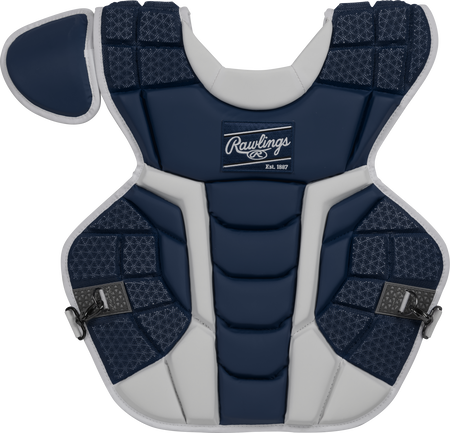 A navy CPMCH Rawlings adult Mach chest protector
