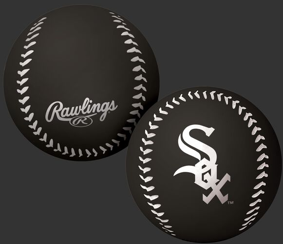 Rawlings Chicago White Sox Big Fly Rubber Bounce Ball With Team Logo on Front In Team Colors SKU #02870029112