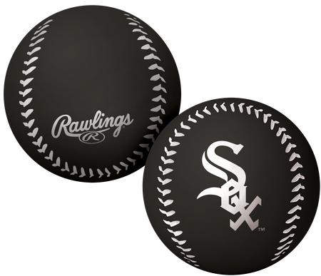 A black Chicago White Sox Big Fly rubber bounce ball