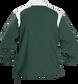 Back of Rawlings Dark Green Adult Long Sleeve Quarter-Zip Jacket - SKU #FORCEJ-B-88 image number null