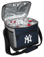 An open New York Yankees 24 can cooler filled with ice and drinks - SKU: 10200030111 image number null