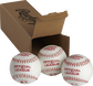 3 Rawlings Playmaker balls in front of an open box - SKU: PMBBPK3 image number null
