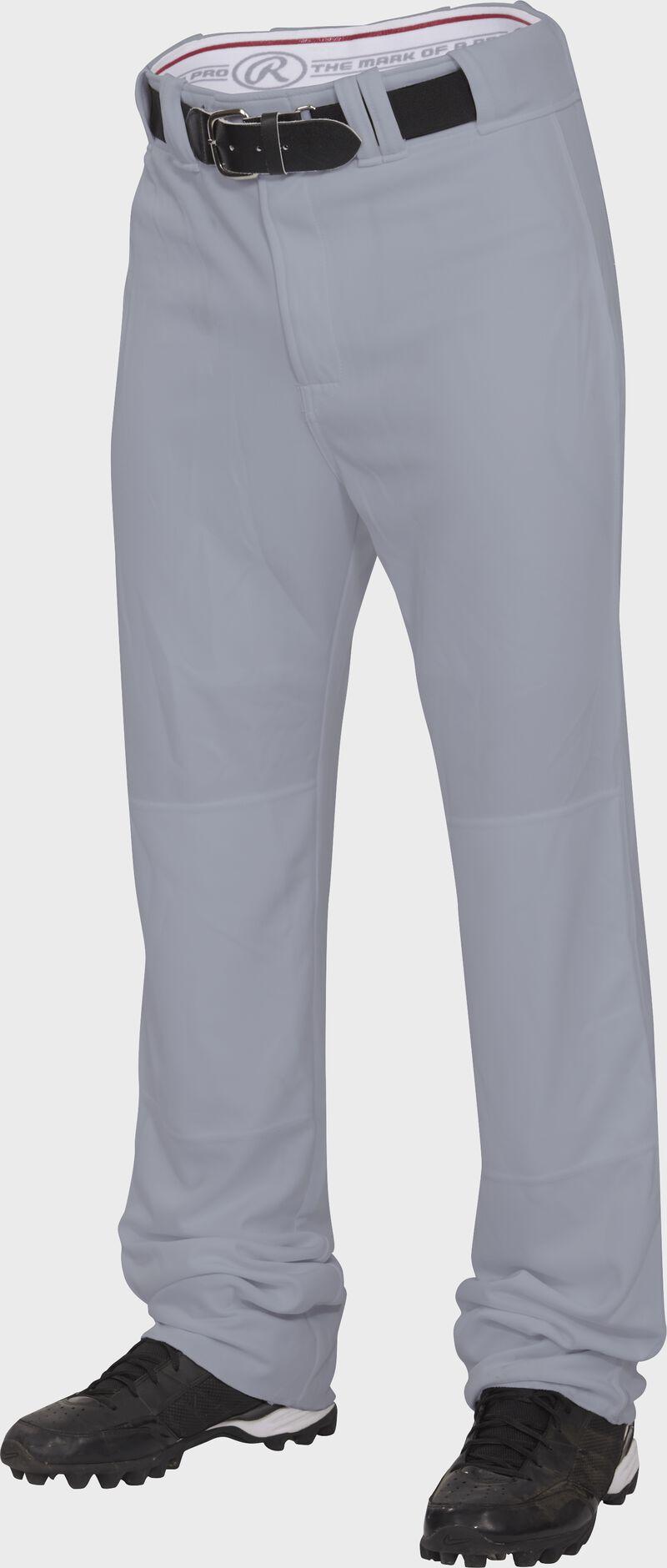 Front of Rawlings Blue Gray Adult Premium Straight Pant - SKU #BPU150-BG