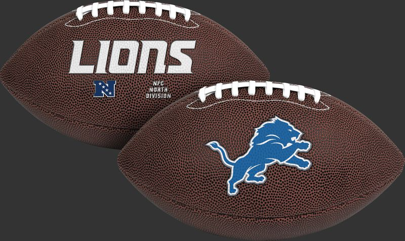 NFL Detroit Lions Air-It-Out youth football with team logo and team name SKU #08041067121