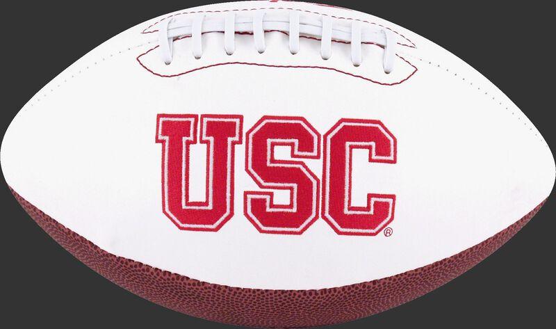 White NCAA USC Trojans Football With Team Name SKU #05733100122