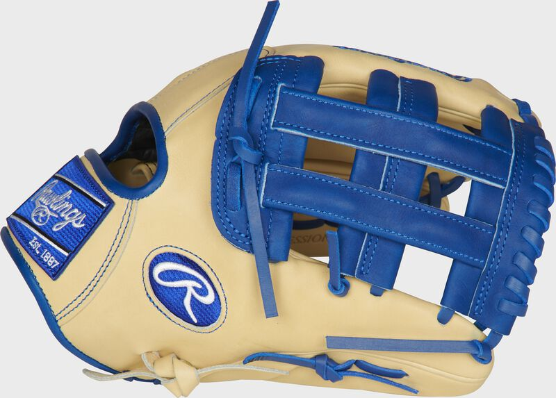 Thumb of a camel PROKB17-6CR Heart of the Hide ColorSync 12.25-inch infield glove with a royal H-web