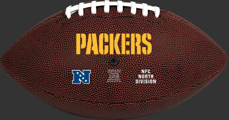 Brown NFL Green Bay Packers Football With Team Name SKU #07081068811