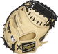 Camel Speed Shell back of a 34-Inch Heart of the Hide ColorSync 5.0 catcher's mitt with a black Rawlings patch - SKU: PROCM43CBG image number null