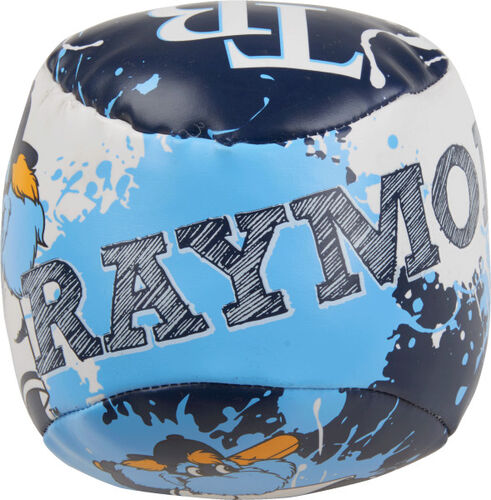 Top of Rawlings Tampa Bay Rays Quick Toss 4'' Softee Baseball With Team Name On Front In Team Colors SKU #01320009112