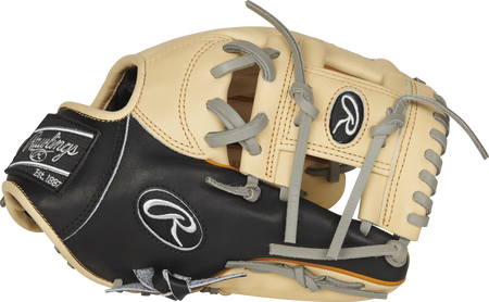 Thumb view of a PRONP4-2CBT Heart of the Hide 11.5-inch infield glove with a camel I web