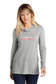 A woman wearing a lightweight Rawlings Softball performance hoodie - SKU: RSGLWH-G image number null