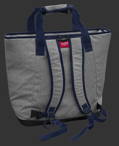 Back of a New England Patriots tote cooler with backpack straps - SKU: 10311076111