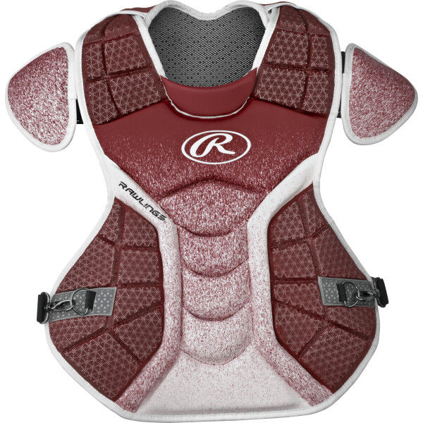 Velo Intermediate Chest Protector Cardinal/White