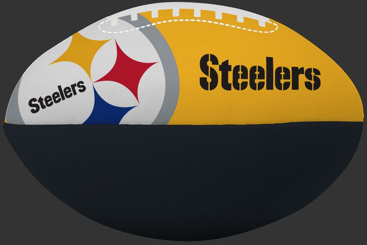 NFL Pittsburgh Steelers Big Boy softee football printed in team colors and features team logos SKU #03211082111
