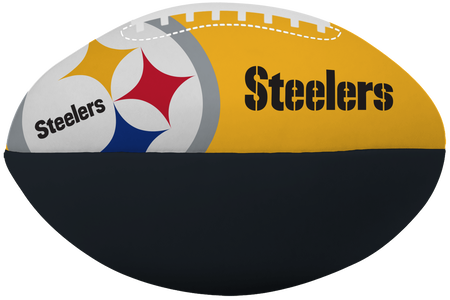 NFL Pittsburgh Steelers Big Boy softee football printed in team colors and features team logos