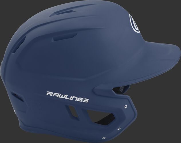 Right side of a matte navy MACH helmet