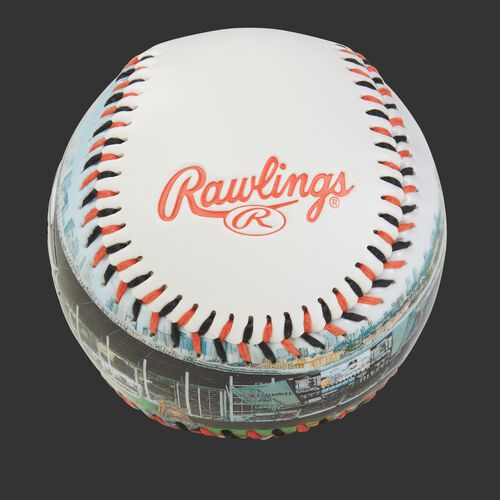 Rawlings logo on a Miami Marlins team stadium ball