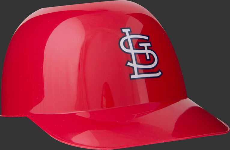 Front of Rawlings Red MLB St Louis Cardinals Snack Size Helmets With Team Logo SKU #01950007121