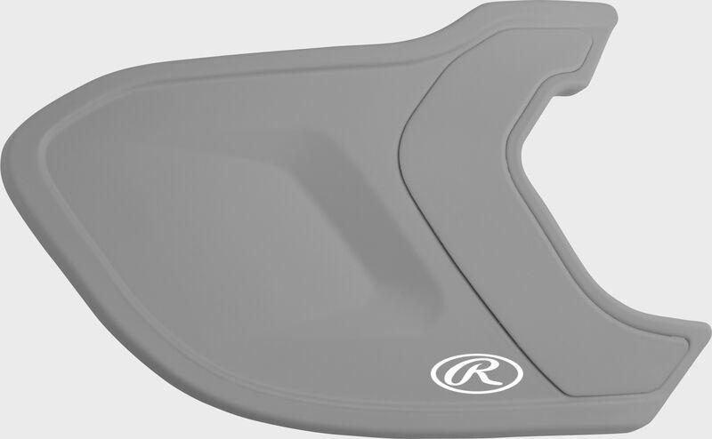A matte silver MEXT Mach EXT batting helmet extension