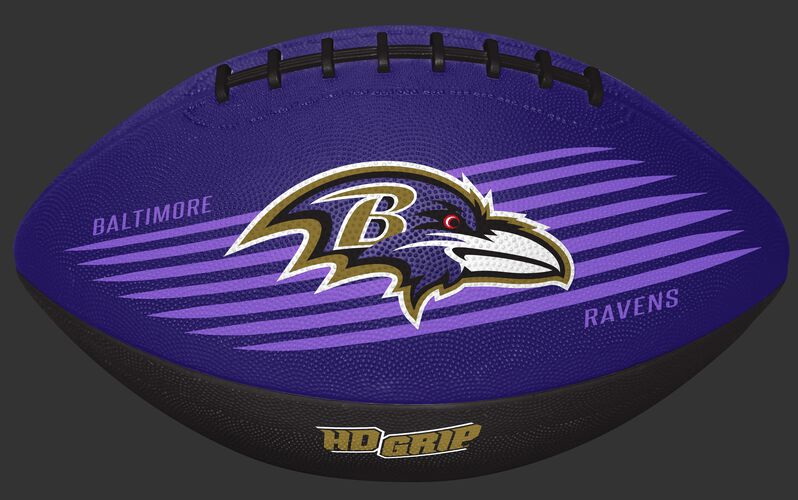 Purple and Black NFL Baltimore Ravens Downfield Youth Football With Team Logo SKU #07731092121