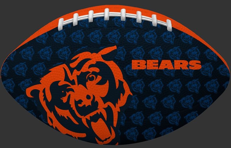 Navy blue side of a NFL Chicago Bears Gridiron football with the team logo SKU #09501062121