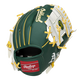 Back of a green/white Oakland Athletics I-web glove with a red Rawlings patch - SKU: 22000003111 image number null