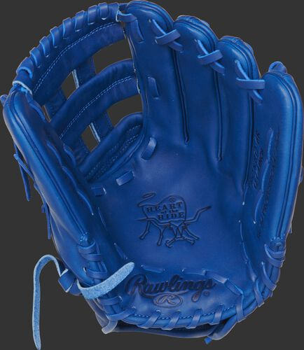 """PROKB17-6R Rawlings Pro Label """"Storm"""" glove with a royal palm, web and laces"""
