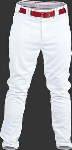 Front of Rawlings White Adult Semi-Relaxed Pant - SKU #PRO150