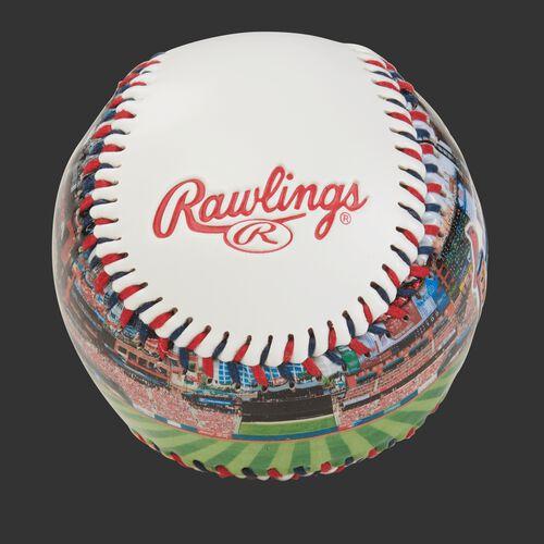 Rawlings logo on a St. Louis Cardinals team stadium ball