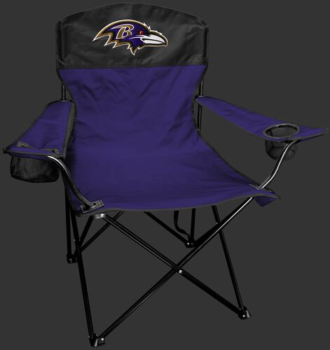 Front of Rawlings Purple and Black NFL Baltimore Ravens Lineman Chair With Team Logo SKU #31021092111