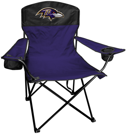 NFL Baltimore Ravens Lineman chair with team colors and logo on the back