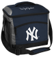 A navy New York Yankees 24 can soft sided cooler with screen printed team logos - SKU: 10200030111 image number null