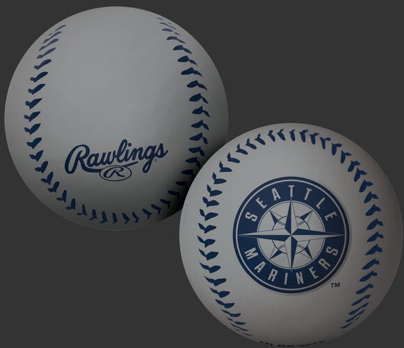 Rawlings Seattle Mariners Big Fly Rubber Bounce Ball With Team Logo on Front In Team Colors SKU #02870015112