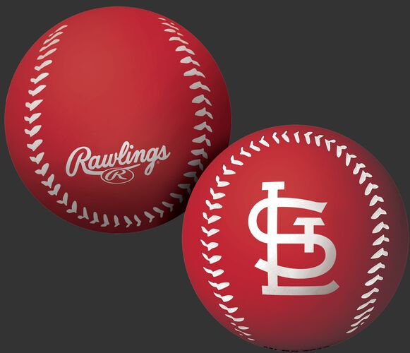 Rawlings St. Louis Cardinals Big Fly Rubber Bounce Ball With Team Logo on Front In Team Colors SKU #02870007112