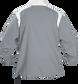 Back of Rawlings Gray Adult Long Sleeve Quarter-Zip Jacket - SKU #FORCEJ-B-88 image number null