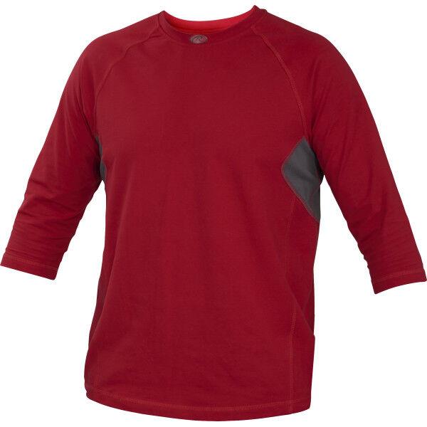 Adult 3/4 Length Sleeve Shirt Scarlet