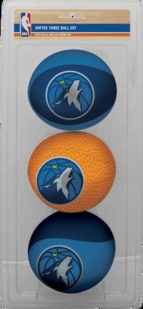 NBA Minnesota Timberwolves Three-Point Softee Basketball Set