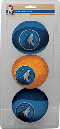 NBA Minnesota Timberwolves Three-Point Softee Basketball Set