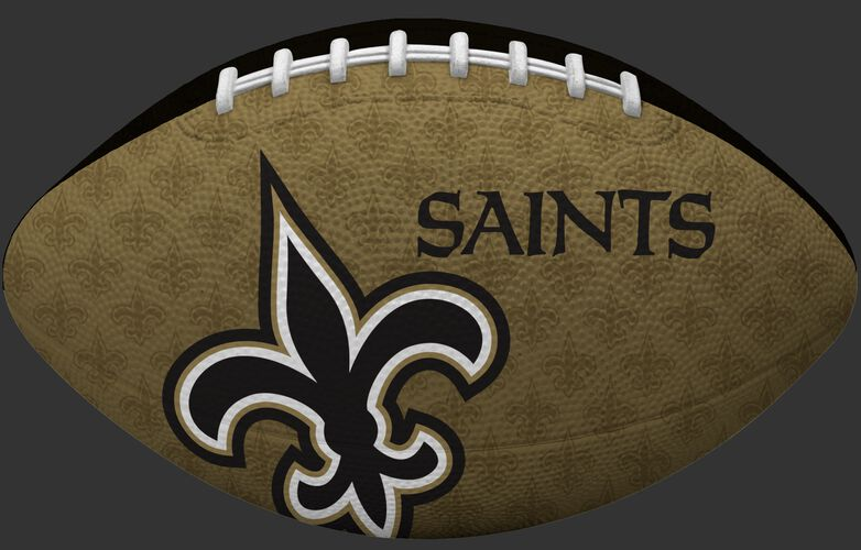 Gold side of a NFL New Orleans Saints Gridiron football with the team logo SKU #09501077121