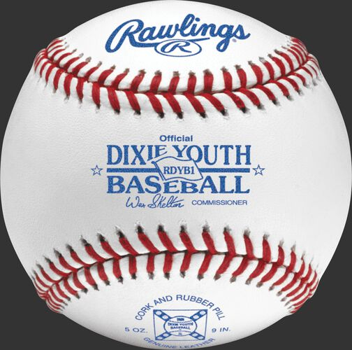 RDYB1 Dixie youth competition grade baseball with raised seams