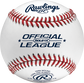 ROLB1X Official league practice baseball with raised seams image number null