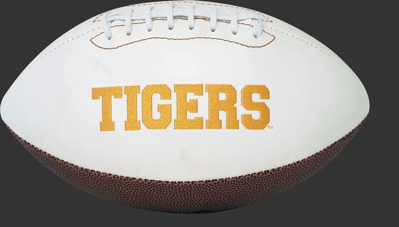 White NCAA Missouri Tigers Football With Team Name SKU #05733086121