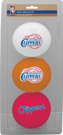NBA Los Angeles Clippers Three-Point Softee Basketball Set