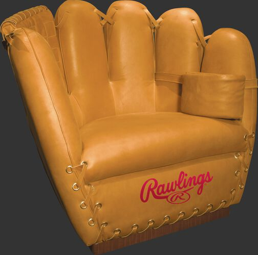 Front of Rawlings Camel Heart of the Hide Chair With Brand Name SKU #M16100